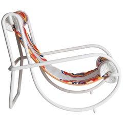 Locus Solus White Armchair by Gae Aulenti