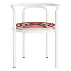 Locus Solus White Chair by Gae Aulenti