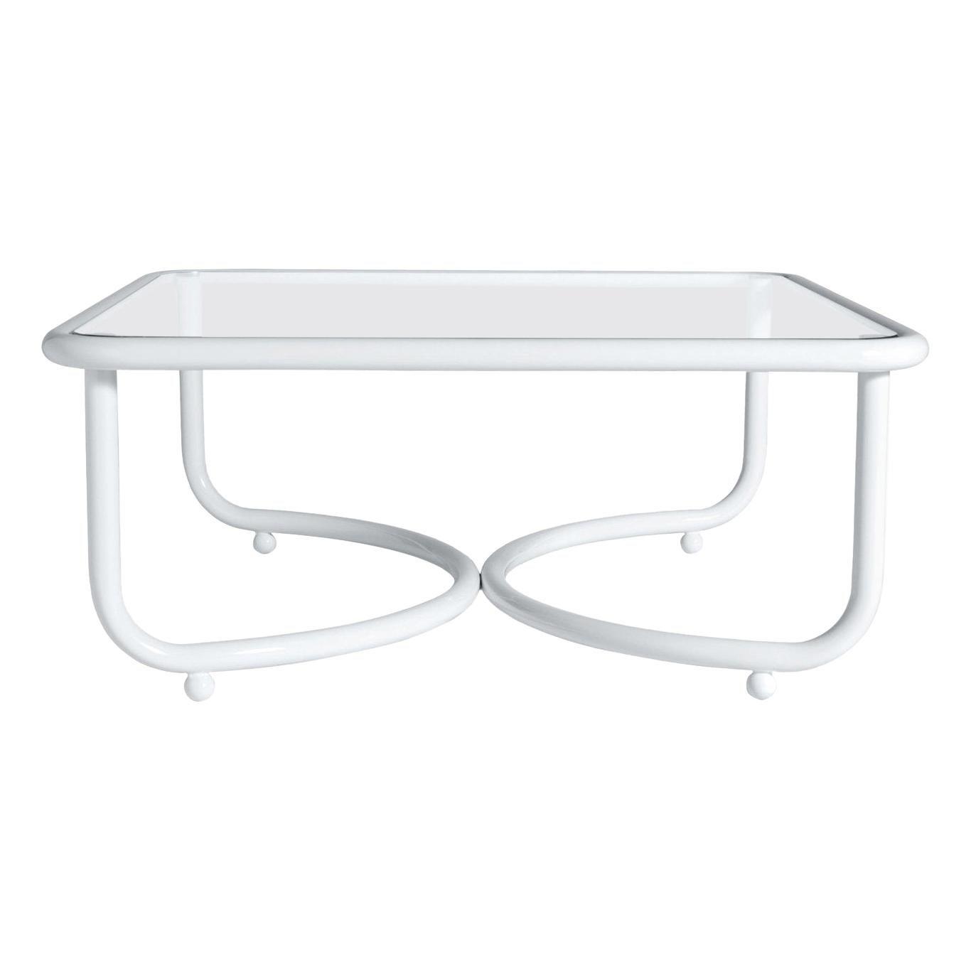 Locus Solus White Low Table by Gae Aulenti