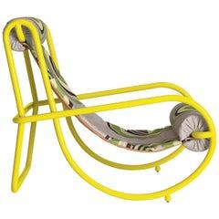 Locus Solus Yellow Armchair by Gae Aulenti