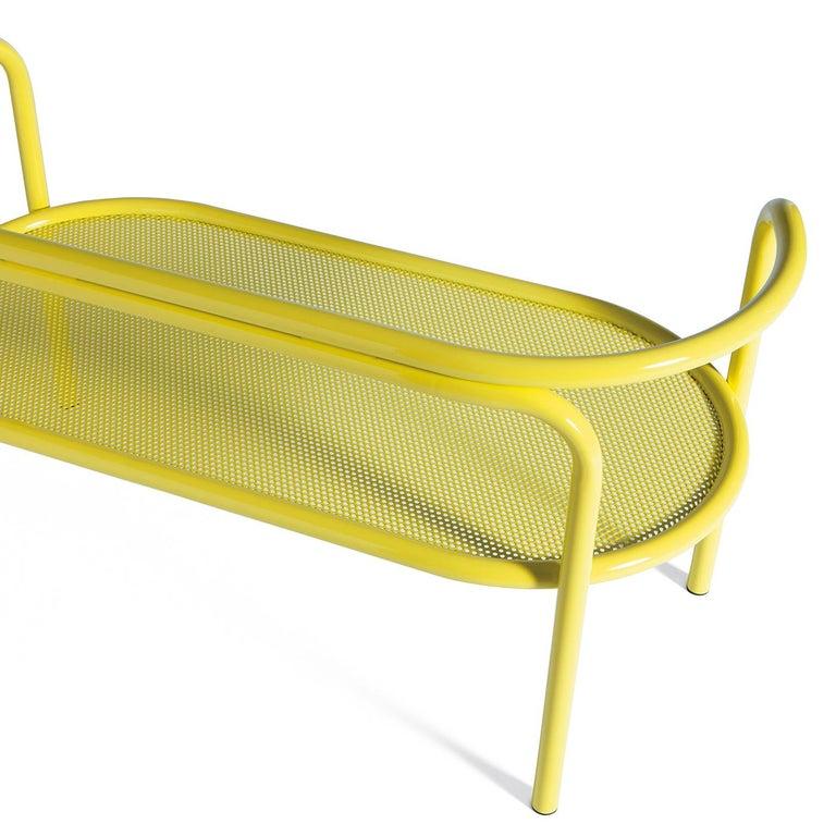 Italian Locus Solus Yellow Loveseat by Gae Aulenti For Sale