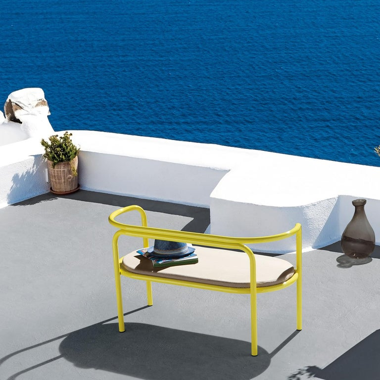 Locus Solus Yellow Loveseat by Gae Aulenti In New Condition For Sale In Milan, IT