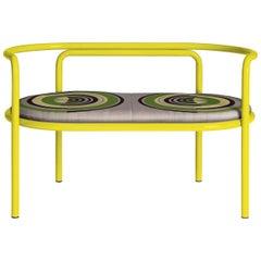 Locus Solus Yellow Loveseat by Gae Aulenti