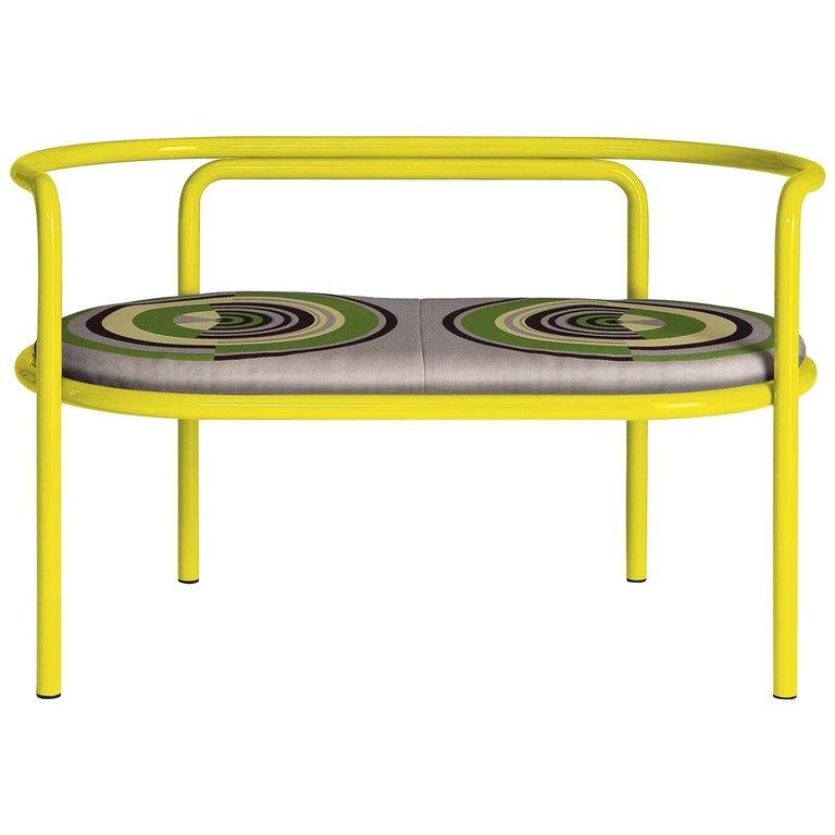 Locus Solus Yellow Loveseat by Gae Aulenti For Sale