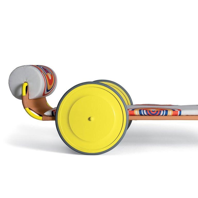 Italian Locus Solus Yellow Sun Lounger by Gae Aulenti For Sale