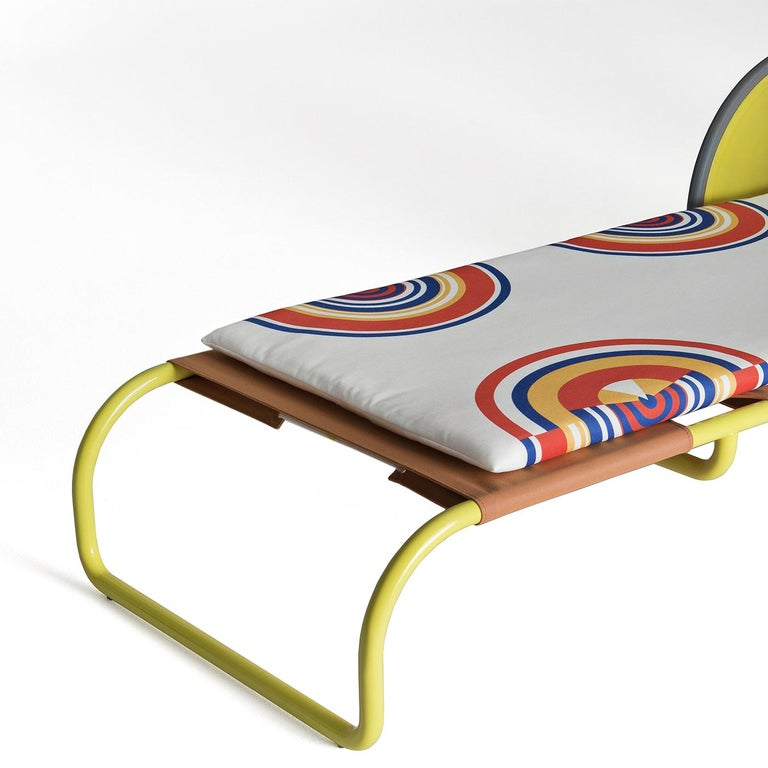 Locus Solus Yellow Sun Lounger by Gae Aulenti In New Condition For Sale In Milan, IT
