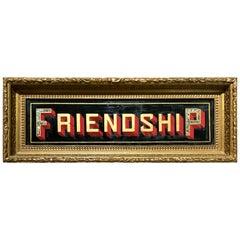 Lodge Sign Friendship American, 19th Century