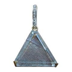14 Karat Lodolite Pyramid Amulet