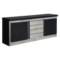 Lodovico Acerbis Sideboard in Stained Oak and Aluminium