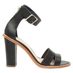 Loeffler Randall Black Heeled Sandals