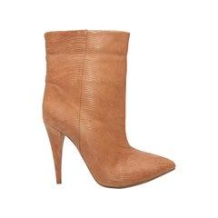 Loeffler Randall Tan Pointed-Toe Boots