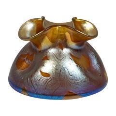 Loetz Art Nouveau Glass Vase Bronze Phenomenon Genre 29, Austria, circa 1900