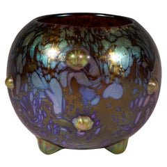 Loetz Art Nouveau Spherical Vase Phenomenon Genre 7766, Austria, circa 1904