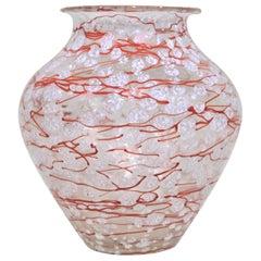 Loetz Ausfuelrung C. Schneelflocken Art Glass Snowflakes Vase