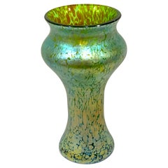 Loetz Blue-Green Oil Spot Vase