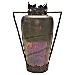 After Loetz, Bohemian Jugendstil Iridescent Art-Glass Flower Vase, ca. 1900