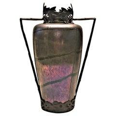After Loetz, Bohemian Jugendstil Iridescent Art-Glass Flower Vase, ca. 1900
