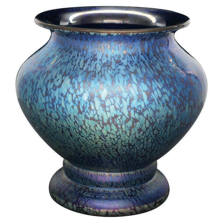 Loetz Cobalt Papillon Art Nouveau Vase For Sale