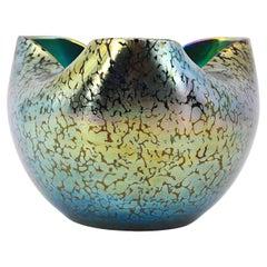 Loetz, Cobalt Papillon Vase, circa 1900