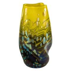 Loetz Glass Vase Austrian Jugendstil circa 1902 Green Iridescent