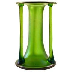 Loetz Glass Vase Austrian Jugendstil Josef Hoffmann 1900 Green
