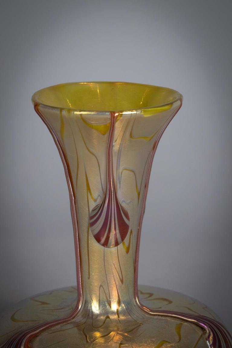 Austrian Loetz Glass Vase, circa 1900 For Sale