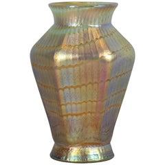 Loetz Hexagonal Glass Vase, circa 1900