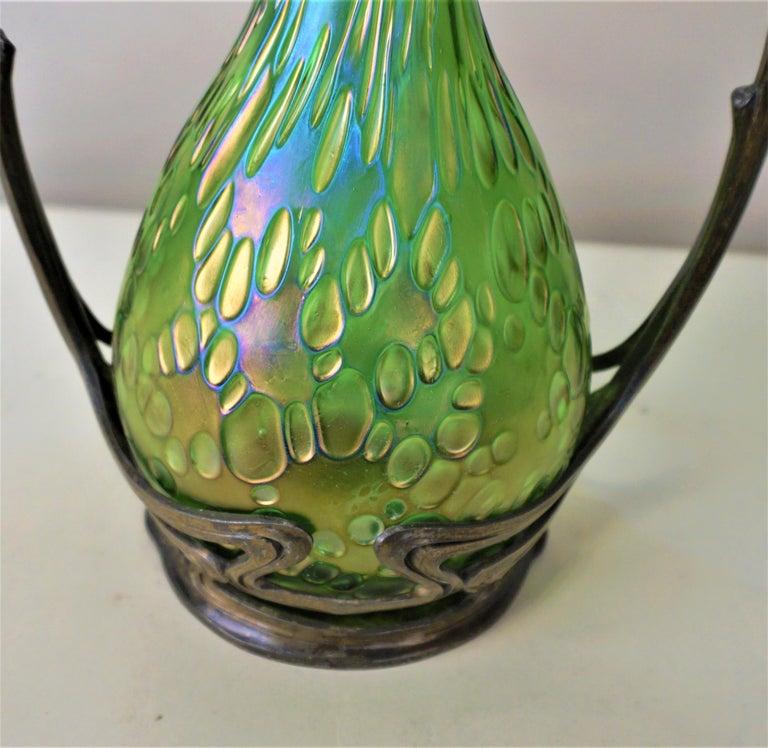 Austrian Loetz Style Art Nouveau Glass Vase