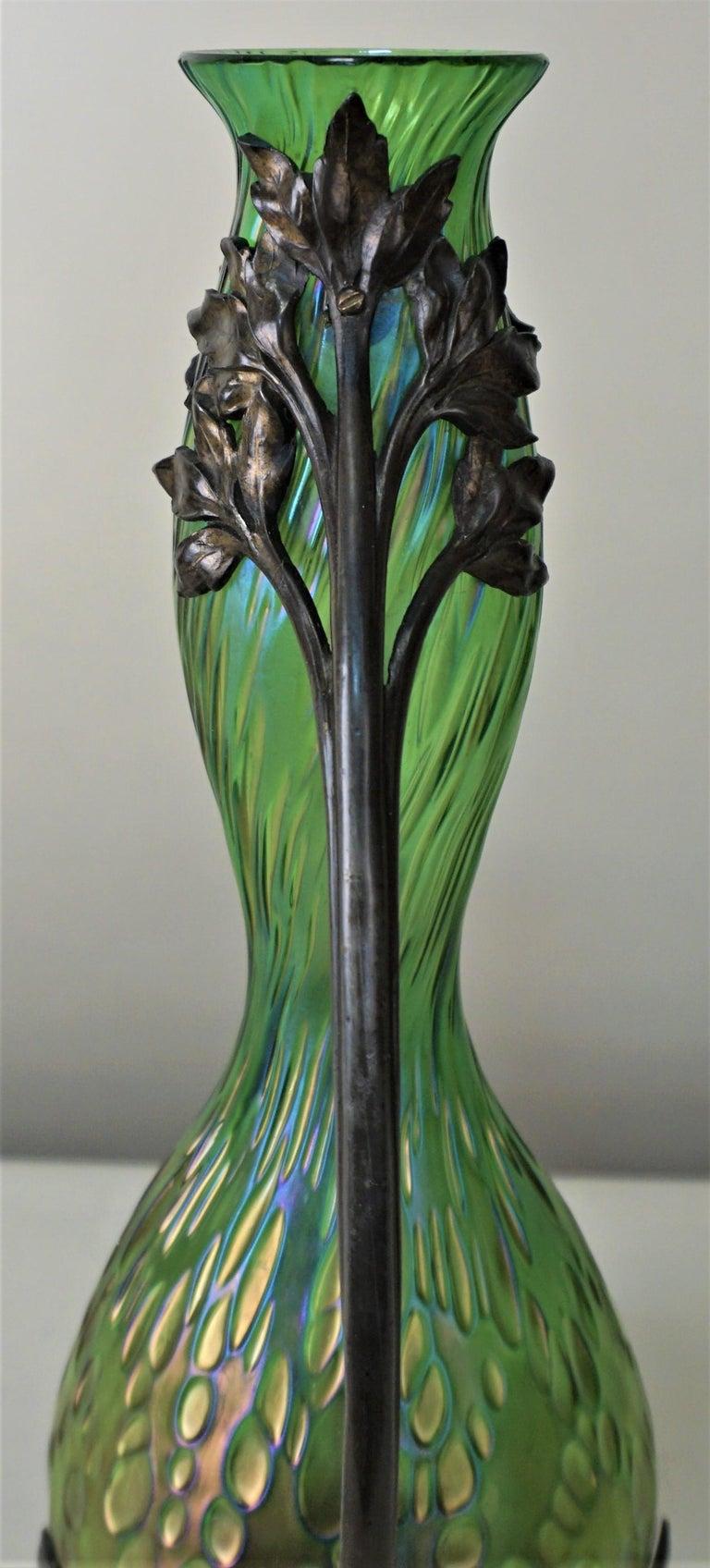 Early 20th Century Loetz Style Art Nouveau Glass Vase