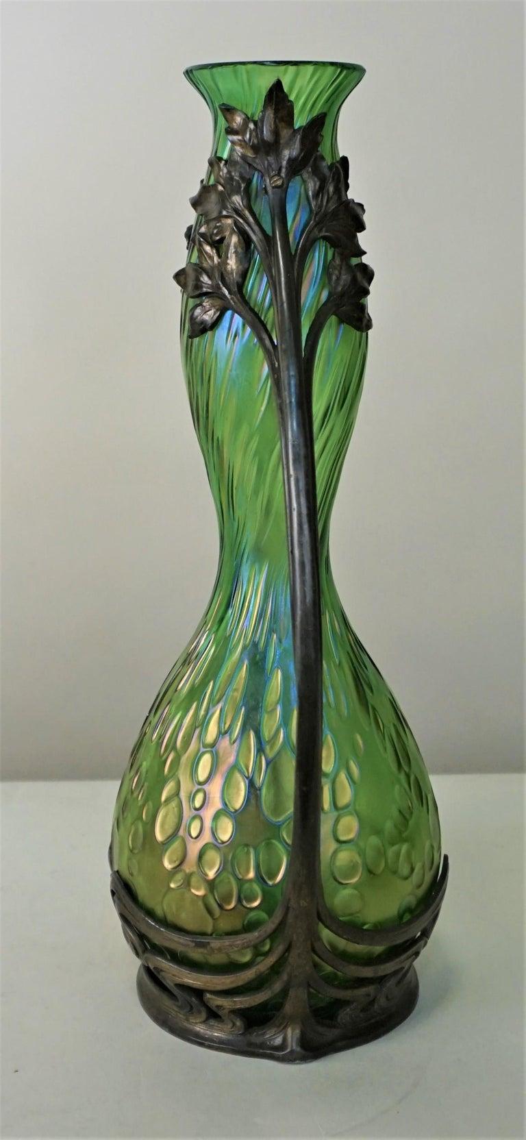 Loetz Style Art Nouveau Glass Vase 2