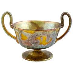 Loetz Vase with Handles, circa 1900 Phenomengre 29 Restored Signed