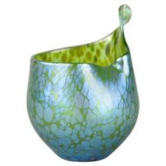 "Loetz Witwe Glass Vase Decor ""Creta Papillon"" Iriscident, Bohemia, circa 1902"