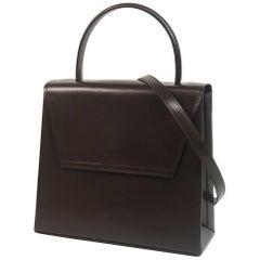 LOEWE 2WAY shoulder Kelly type Womens handbag 352.30.N71 dark brown