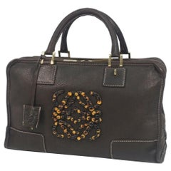 LOEWE Amazona35 stats Womens handbag 311.75.002 dark brown
