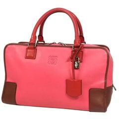LOEWE Amazona36 three color Womens handbag pink x raspberry x Bordeaux