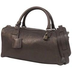 LOEWE Ame 2WAY shoulder Womens handbag 318.70.A07 metallic black x silver hardwa