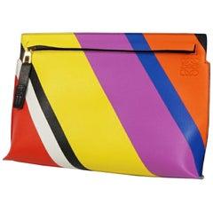 LOEWE Anagram Rainbow Womens clutch bag 061608 multi color