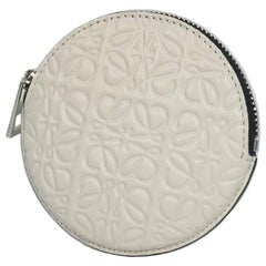 LOEWE Anagram Womens coin case 107.55.951 white