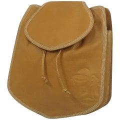 LOEWE Backpack logo Womens ruck sack Daypack Camel