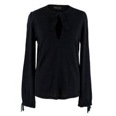 Loewe Black Cashmere Blend Keyhole Jumper - Size XL