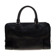 Loewe Black Leather Amazona Satchel Bag