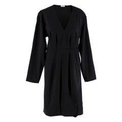Loewe Black Pleated Button Detail Dress - Size XS