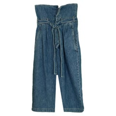 Loewe Blue Denim Belted Pleated Oversize Jeans sz 38 NWT