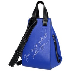 Loewe Blue Leather Can't Take It Small Hammock Bag rt $2,450