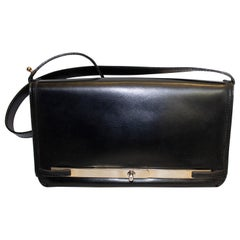 Loewe  Blue Leather Handbag with Adjustable Strap