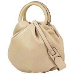 LOEWE Bounce 2WAY shoulder Womens handbag 332.87.L40 beige x silver hardware