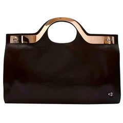 Loewe Brown Leather & Metal Vintage Top Handle Bag