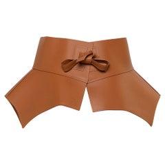 Loewe Brown Leather Obi Waist Belt L