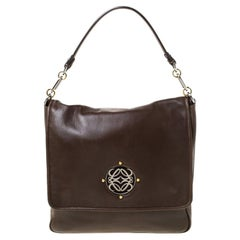 Loewe Brown Leather Shoulder Bag