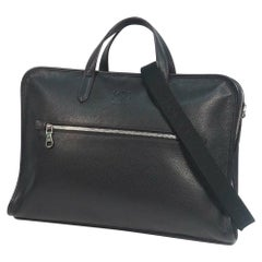 LOEWE business bag shoulder bag Mens Boston bag 323.26.H54 black x silver hardwa